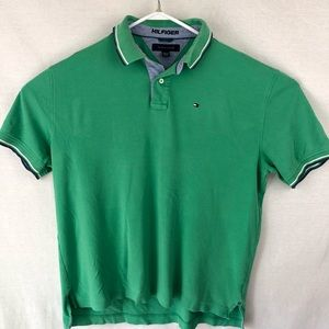 Tommy hilfiger Mens green short sleeve polo XL/TG